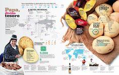 Papas, Peru Infografia. Kartoffeln aus Peru Infografik.