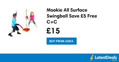 Mookie All Surface Swingball Save £5 Free C+C, £15 at ASDA