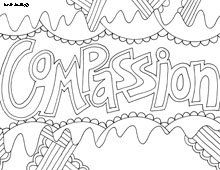 Compassion Free Printable Coloring Page