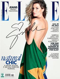nice Elle Brasil Julho 2014 | Gisele Bundchen por Matt Jones [Capa]