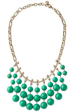 Stella & Dot Emerald Green Jolie Necklace