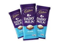 Dairy Milk Top Deck - The Queen's Pantry Dairy Milk Chocolate, Cadbury Dairy Milk, Cadbury Chocolate, Top Deck Chocolate, Bad Room Ideas, Candy Shop, Peanut Butter Cups, Creamy White, Food Illustrations