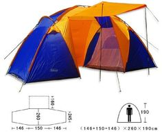 46 Double Layer Outdoor Camping Tent Many People Tent ** You can get additional details at the image link.