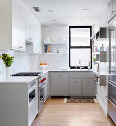 Fesselnde Grau Küche Ideen Plus Licht Grau Schränke #Küche