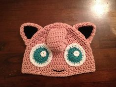 Ravelry: FREE Pink Puff Beanie Pattern (Jigglypuff inspired) pattern by K Guz