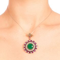 The Zerbap Dominique Pendant  with Zircon Ruby by Rosestyle, $55.00