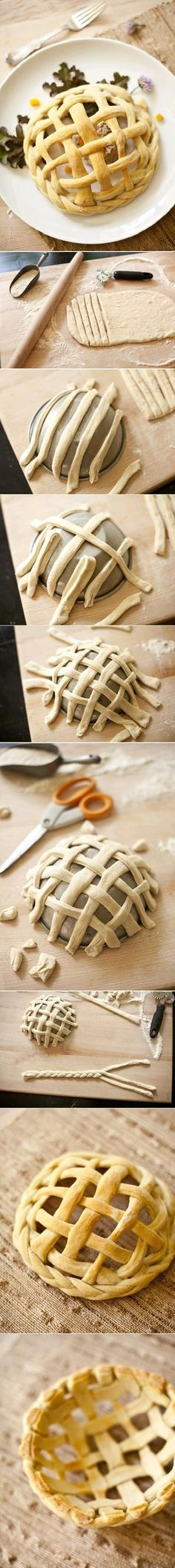 Pastry Basket -make mini versions with jumbo muffin tins and serve over a baked apple filled with a scoop of ice cream