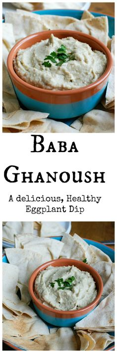Eggplant Dip {Baba Ghanoush} is a light, healthy dip made from roasted eggplant, tahini, lemon juice, garlic and olive oil. This is a Mediterranean favorite and perfect with pita bread or vegetables.// A Cedar Spoon