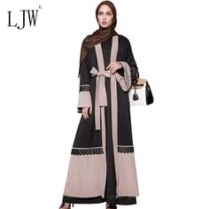 Elegant Lace Stitching Cardigan Islamic Muslim Fashion Dress for Woman 2017 Middle East Saudi Robe Maxi Long National Constume #Muslim fashion http://www.ku-ki-shop.com/shop/muslim-fashion/elegant-lace-stitching-cardigan-islamic-muslim-fashion-dress-for-woman-2017-middle-east-saudi-robe-maxi-long-national-constume/