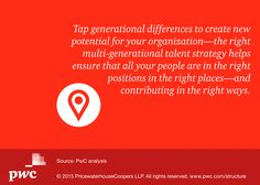 Does your organization have a culture that fuels collaboration and innovation across all generations? Mary Lyons explores how you can: http://pwc.to/1Gi58Id