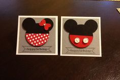 Minnie Mouse Mickey Mouse birthday cards stampin' up! -- regalcrafts.stampinup.net for supplies