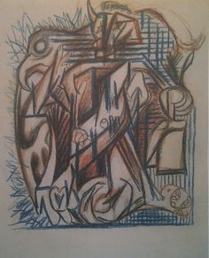 "PAD Plate 70 - 1939-40 - Colored pencil - 10-1/2"" X 8-1/4"" - Anon Private Collection ."