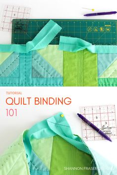 Quilt Binding Tutorial: Part 1 – 10 Tips for Success Your one stop shop to learn how to make and attach your quilt binding. Plus get the top 10 tips for quilt binding success every time. Quilting Tips, Quilting Tutorials, Sewing Tutorials, Beginner Quilting, Quilting Projects, Quilting For Beginners, Quilting Patterns, Quilt Binding Tutorial, Bias Binding