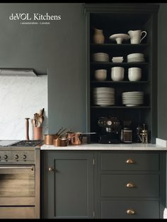 London's deVol kitchens sent me an email this week sharing this stunning shaker Kitchen in a victorian home in the heart of London. dreamy, right? i'm working away on my own kitchen remodel ideas, so Kitchen Paint, New Kitchen, Kitchen Decor, Updated Kitchen, Kitchen Ideas, Kitchen Corner, Country Kitchen, Rustic Kitchen, Vintage Kitchen