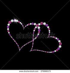 Abstract Luxury Diamond Heart Vector Illustration EPS10
