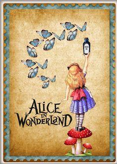 Alice in Wonderland butterfly refrigerator magnet - soft vinyl non-scratch - New Ideas Alice In Wonderland Gifts, Alice In Wonderland Illustrations, Adventures In Wonderland, Wonderland Party, Tattoo Alice In Wonderland, Alice In Wonderland Clipart, Alice In Wonderland Pictures, Mad Hatter Tea, Mad Hatters