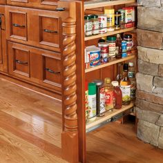 Rev-A-Shelf Base Cabinet Filler Pullout Kitchen Wooden Spice Rack Holder Shelves for Storage Organization Kitchen Base Cabinets, Kitchen Redo, Wood Cabinets, Kitchen Ideas, Kitchen Drawers, Kitchen Inspiration, Kitchen Designs, Floating Cabinets, Ikea Kitchen