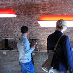 Major Tom Tube lamps by Jack Brandsma and side tables UP and PI by Marc Th. van der Voorn during IDA 2013 - Inside design Amsterdam @ BURG 9