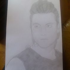 Synyster Gates, Brian Haner Jr, Avenged Sevenfold (really crappy photo of the drawing)