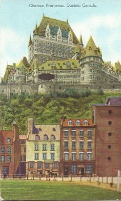Your place to buy and sell all things handmade Old Quebec, Quebec City, Posters Canada, Chute Montmorency, Castle Drawing, Chateau Frontenac, Le Petit Champlain, Belle Villa, Vintage Travel Posters