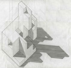 Pencil axonometric by Lukas Adrian Buechs [2009]