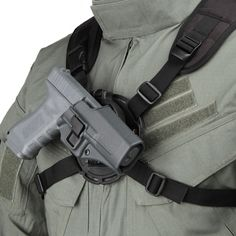 This versatile chest-mount platform is designed to carry items securely, giving you quick access while backpacking or hiking. Mount your holster, camera case or binocular case quickly using the mounting plate or five-position molded hole pattern.• Injection-molded multi-position mounting disk with mounting plate and direct-mounting five-position hole pattern• Ergonomic aero foam shoulder harness• Nylon webbing with quick-detach buckles• Compatible with BLACKHAWK!® nylon holsters, ...
