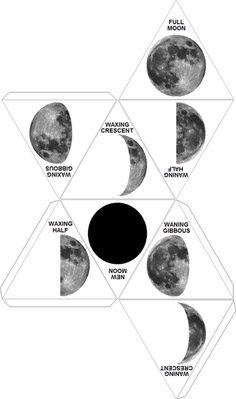 moon phases printable die