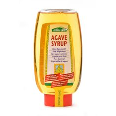 """Sirope de ágave - Loveat!© - #We_Loveat -  Buena solubilidad, en envase botella dispensadora. Endulzante de fructosa que se extrae del cactus mejicano del ágave. Con grandes cantidades de inulina, bajo contenido en calorías, ayuda a regular los niveles de insulina. Tradicionalmente los aztecas recogían el jugo dulce de """"aguamiel"""" de diferentes variedades de ágave. Este se obtiene de plantas de 7-8 años de antigüedad y contiene nutrientes como carbohidratos, vitaminas y aminoácidos. Mustard, Cactus, Organic, Vitamins, Juice, Bottle, Store, Food Items, Syrup"""