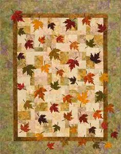 Falling Leaves Plum Tree Quilts