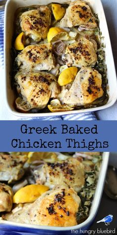 One pan chicken and potato dinner with fresh herbs and Greek flavors
