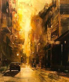 "1,332 Likes, 8 Comments - Paintsagram (@paintsagram) on Instagram: ""Art by @bryanmarktaylor #oilpainting #painting #artist #art #cityscapes  #contemporaryart #paintings"""