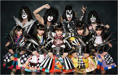 Momoiro Clover Z (or MCZ) - 5 dynamic young performers.  A rather interesting - some much suggest - bizarre collaboration with Kiss. Get those tongues pointing out..