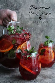 Pomegranate Party Punch |