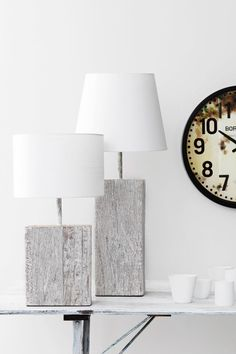 Washed Mango Tablelight   Born FC Cased Wall Clock