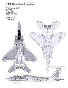 F-15C in Visual Signature Reduction camouflage scheme.