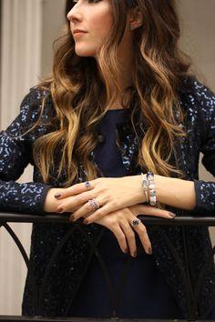 FashionCoolture - 12.11.2015 look du jour Pandora jewelry navy blue sequined jacket (2)