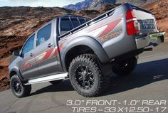 Look mom... a Hilux! Toyota hilux with lift kit and new wheels. #ReadyLIFT #truck #suspension