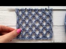 Master class on knitting actual, trend pattern 2019 – large mesh. This grid turned out to me by trial and experiment, without any schemes. I wanted to knit p. Lace Knitting Patterns, Knitting Stiches, Knitting Videos, Free Knitting, Crochet Stitches, Baby Knitting, Stitch Patterns, Knitting Needles, Gilet Crochet