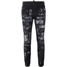 Dsquared2 'Cool Girl' jeans (2,495 SAR) ❤ liked on Polyvore featuring jeans, black, mid rise skinny jeans, dsquared2, skinny leg jeans, skinny jeans and skinny fit jeans