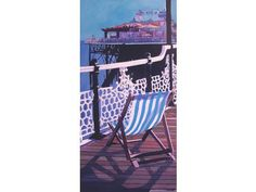 Brighton Pier - by artist: Moira Ladd - Description: a summer day on Brighton Pier. Pre-selected for the Mall Galleries London, earlier this year.Original Art from West Country Galleries