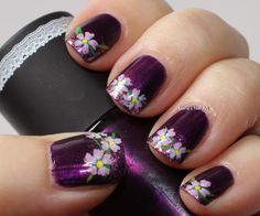 Marias Nail Art and Polish Blog: Viola's flowers #prom nail art
