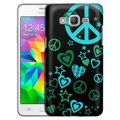 6721773a0c2e Samsung Grand Prime Green Love Peace Stars on Black Slim Case Samsung  Grand