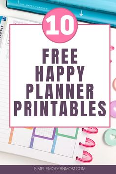 Grab your free Happy Planner printables in our Resource Library! Includes weekly Happy Planner inserts, vertical and horizontal inserts, meal planning pages and