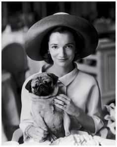 Princess Radziwill with her pug, Thomas, photographed for Vogue in 1960. Henry Clarke
