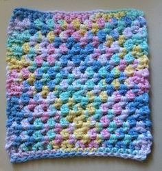 Cotton Candy Dishcloth | AllFreeCrochet.com