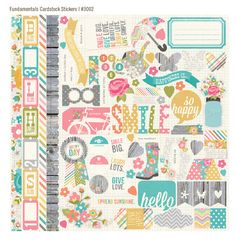 Simple Stories - Vintage Bliss Collection - 12 x 12 Cardstock Stickers - Fundamentals at Scrapbook.com $2.99