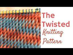 The Twisted Knitting Stitch Pattern - Slanted Knitting Stitch - YouTube Knitting Stiches, Knitting Videos, Knitting Yarn, Crochet Stitches, Knit Crochet, Knitting Designs, Knitting Projects, Knitting Patterns, Knitting Tutorials