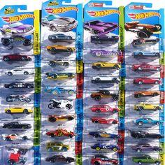 Hot 5pcs/lot Hot Wheels Random Styles Mini Race Cars Scale Models Miniatures Alloy Cars Toy Hotwheels For Boys Birthday Gift