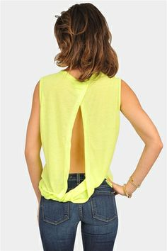lime tank with open back. please come back, summer. i miss you so, so much.