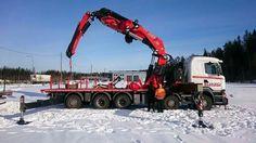 Scania. zwaar autokraan Fassi.  F 2150